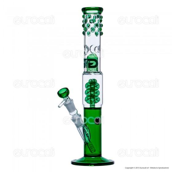 Bong Grace Glass Green Cane G330G in Vetro Lavorato - Altezza 38 cm