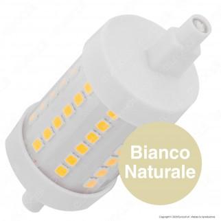 Life Lampadina LED R7s L78 8W Bulb Tubolare con Attacco Asimmetrico - mod. 39.932208C / 39.932208N