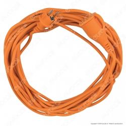 V-Tac Cavo Prolunga IP44 Spina e Presa Schuko 16A 2P + T 15 Metri Colore Arancione - SKU 8816