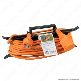 V-Tac Cavo Prolunga Spina Schuko 16A e Presa Schuko16A 15 Metri Colore Arancione - SKU 8816