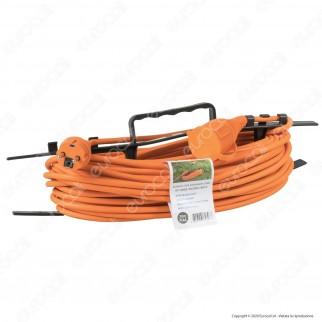 V-Tac Cavo Prolunga IP44 Spina e Presa Schuko 16A 2P + T 30 Metri Colore Arancione - SKU 8815