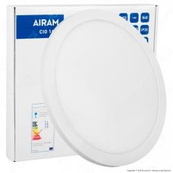 Airam Bot Lighting Pannello LED Rotondo 16W SMD Superficiale o Incasso Regolabile Dimmerabile - mod. 4126219 / 4126261