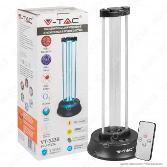 V-Tac Germicidal Lamp Lampada Raggi UV-C 38W con Sensore Radar e Telecomando - SKU 11224