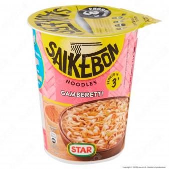 Star Saikebon Noodles al Gusto di Gamberetti Pronti in 3 Minuti - Cup da 60g.