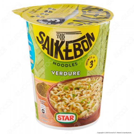 Star Saikebon Noodles al Gusto di Verdure Pronti in 3 Minuti - Cup da 59g.