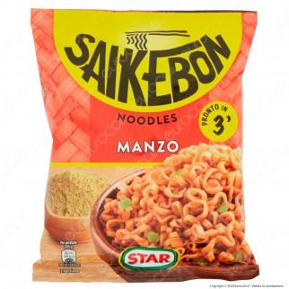 Star Saikebon Noodles al Gusto di Manzo Pronti in 3 Minuti - Busta da 79g.