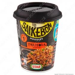 Star Saikebon Noodles Yakisoba al Gusto di Manzo e Verdure Pronti in 3 Minuti - Cup da 93g.