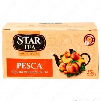 Star Tea Tè Fruttato alla Pesca Vellutato e Intenso - Confezione da 25 Filtri