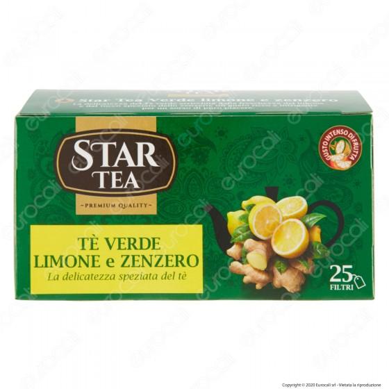 Star Tea Tè Verde Fruttato al Limone e Zenzero Delicato e Speziato - Confezione da 25 Filtri