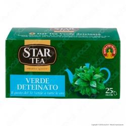 Star Tea Tè Verde Deteinato Delicato e Rinfrescante - Confezione da 25 Filtri