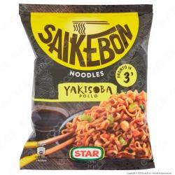 Star Saikebon Noodles Yakisoba al Gusto di Pollo e Verdure Pronti in 3 Minuti - Busta da 93g.