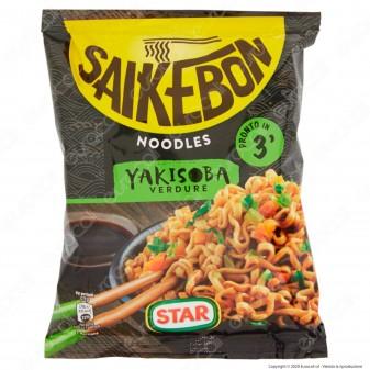 Star Saikebon Noodles Yakisoba al Gusto di Verdure Pronti in 3 Minuti - Busta da 93g.