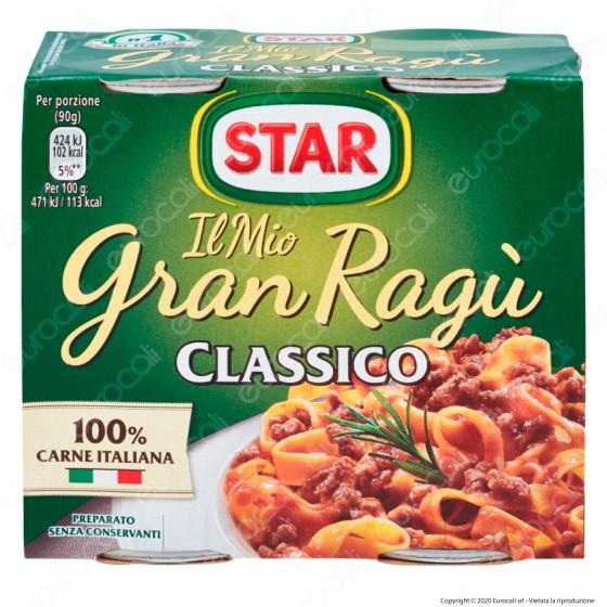 Star Il Mio Gran Ragù Classico Sugo Pronto con Pomodoro e Carne Italiana - 2 Lattine da 180g