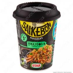 Star Saikebon Noodles Yakisoba al Gusto di Verdure Pronti in 3 Minuti - Cup da 93g.