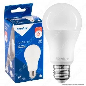 Kanlux RAPID HI Lampadina LED E27 14W Bulb A60 - mod. 32927