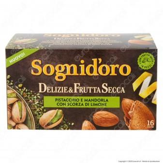 Sogni D'oro Infuso Delizie e Frutta Secca Pistacchio e Mandorla con Scorza di Limone - Confezione da 16 Filtri
