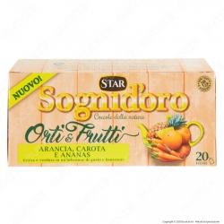 Star Sogni D'Oro Orti & Frutti Infuso al Gusto di Arancia Carota Ananas Tisana con Ibisco - Confezione da 20 Filtri