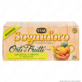 Sogni D'Oro Orti & Frutti Infuso al Gusto di Arancia Carota Ananas con Ibisco - Confezione da 20 Filtri