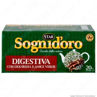 Sogni D'oro Tisana Digestiva con Liquirizia Anice Verde e Estratti di Menta - Confezione da 20 Filtri