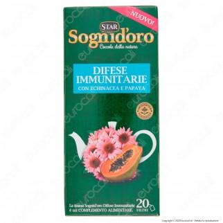 Sogni D'oro Tisana Difese Immunitarie con Echinacea e Papaya - Confezione da 20Filtri