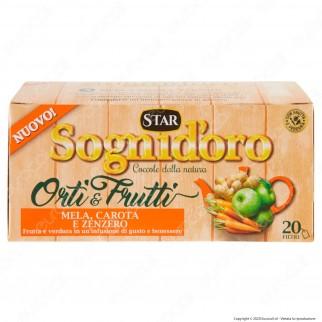 Star Sogni D'Oro Orti & Frutti Infuso al Gusto di Mela Carota Zenzero - Confezione da 20 Filtri