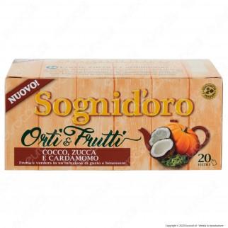 Star Sogni D'Oro Orti & Frutti Infuso al Gusto di Cocco Zucca Cardamomo e Rosa Canina - Confezione da 20 Filtri