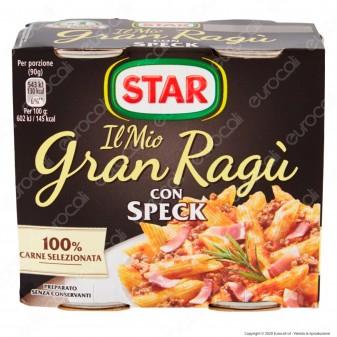 Star Il Mio Gran Ragù con Speck Sugo Pronto Pomodoro e Carne Suina - 2 Lattine da 180g