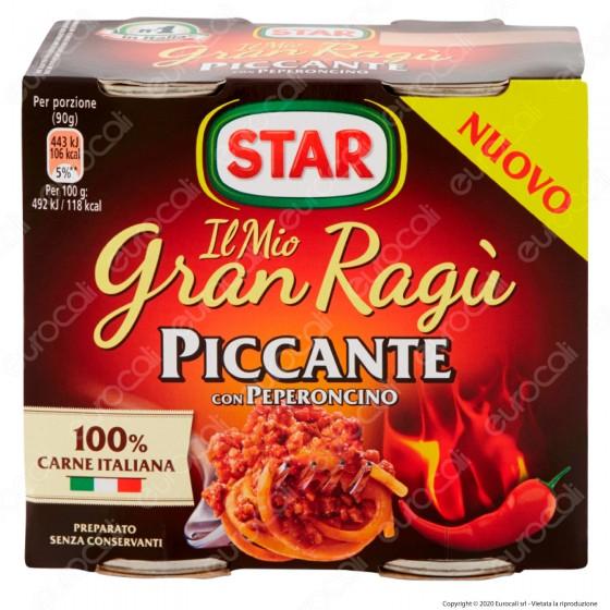Star Il Mio Gran Ragù Piccante Sugo Pronto Pomodoro Carne Italiana e Peperoncino - 2 Lattine da 180g