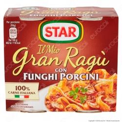 Star Il Mio Gran Ragù con Funghi Porcini Sugo Pronto Pomodoro e Carne Italiana - 2 Lattine da 180g