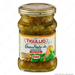 Tigullio Star Gran Pesto alla Genovese Senza Aglio Senza Glutine Ricetta Ricca - Vasetto da 90g