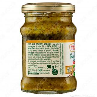 Tigullio Star Gran Pesto alla Genovese Senza Aglio Senza Glutine Ricetta Ricca - Vasetto da 190g