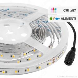 Wiva Striscia LED 2835 Monocolore 14,4W/M 60 LED/metro CRI 97 - Bobina da 5 metri - mod. 41700028 / 41700020 / 41700021