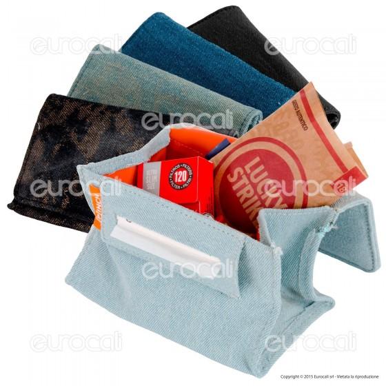 Pinch Astuccio in Tessuto Jeans Portatabacco e Cartine