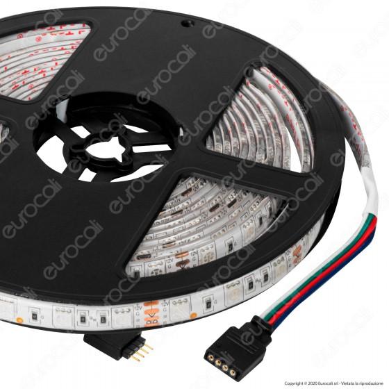 Sure Energy Striscia LED 14,4W/m 60 LED/metro 12V Multicolore RGB Impermeabile IP65 - mod. T674