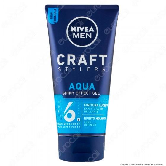 Nivea Men Wet Look Gel Aqua Shiny Effect Fissante Mega Forte Effetto Ultra Bagnato - Flacone da 150ml