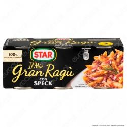 Star Il Mio Gran Ragù con Speck Sugo Pronto con Pomodoro - 3 Lattine da 100g