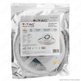 V-Tac VT-2835-168 Striscia LED 2835 Monocolore 168 LED/metro - Bobina da 5 metri - SKU 2596 / 2597 / 2598