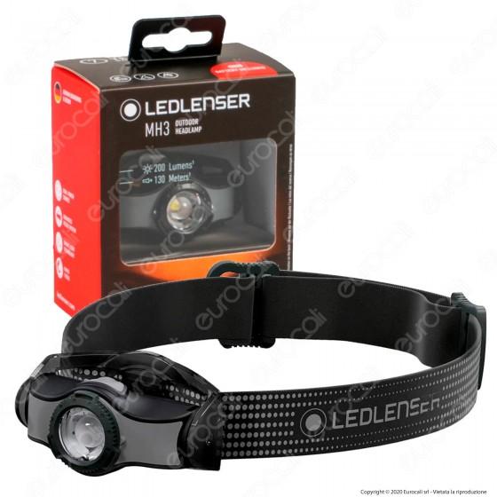 Ledlenser Torcia LED Frontale MH3 Outodoor Headlamp Multiuso 200 lm