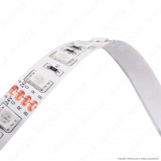 V-Tac VT-5050-60 Striscia LED SMD 5050 24V Multicolore RGB 60LED/metro - Bobina da 5 metri - SKU 2591