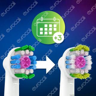 Oral-B 3D WHhite Testine di Ricambio per Spazzolino Elettrico - Confezione da 8 Testine