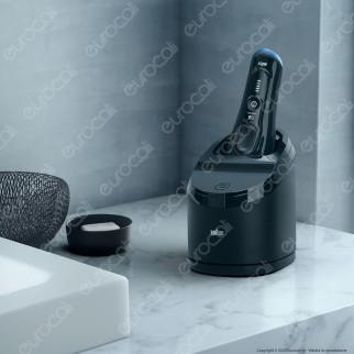 Braun Rasoio Elettrico da Barba Uomo Braun Serie 8 Wet&Dry 8356cc con Stazione di Pulizia Clean & Charge