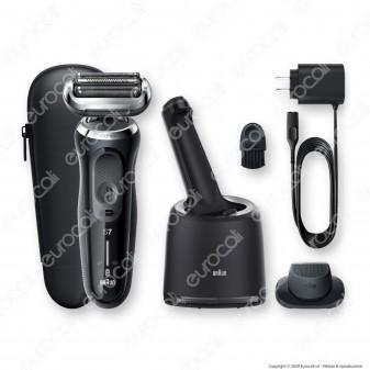 Braun Rasoio Elettrico da Barba Uomo Braun Serie 7 Wet&Dry N7200cc con Stazione di Pulizia SmartCare