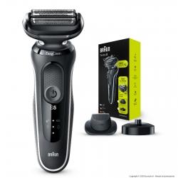 Braun Rasoio Elettrico da Barba Uomo Braun Serie 5 Wet&Dry 50 W-42000cs con Base di Ricarica
