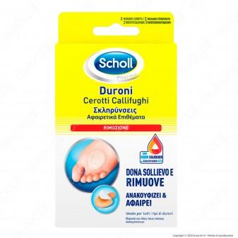 Scholl Cerotti Callifughi per Rimozione Duroni - Confezione con 2 cerotti e 2 dischetti