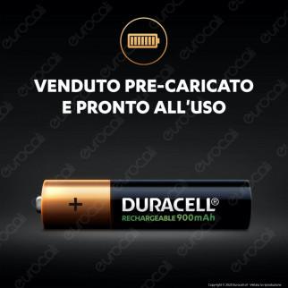 Duracell Ultra Precharged 900mAh Pile Ricaricabili Ministilo AAA - Blister 4 Batterie