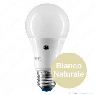 Bot Lighting Lampadina LED E27 10W Bulb A60 con Doppio Sensore Crepuscolare - mod. LEDSENS10X2B / LEDSENS10X3B