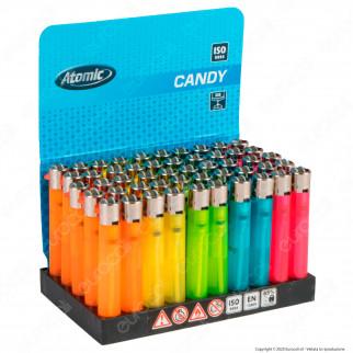 Atomic Candy Accendino Micro Colori Assortiti Traslucidi - Box da 50 Accendini