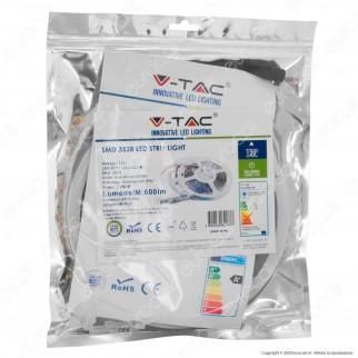 V-Tac Striscia LED 3528 Impermeabile Monocolore 120 LED/metro - Bobina da 5 metri - SKU 2038 / 2044 / 2037