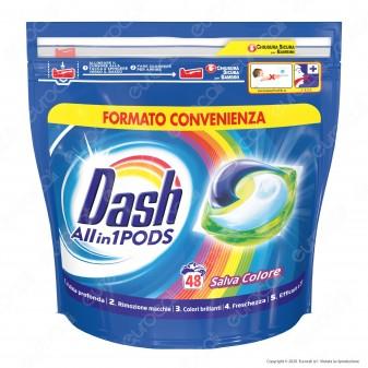 Dash All in 1 Pods Salvacolore Detersivo in Capsule - Confezione da 48 Pastiglie