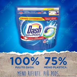 Dash All in 1 Pods Extra Igienizzante Detersivo in Capsule - Confezione da 49 Pastiglie